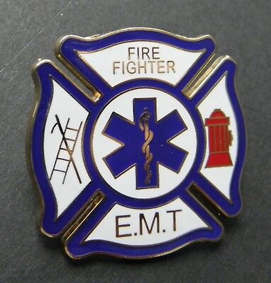FIRE FIGHTER EMT DEPT UNITED STATES LAPEL PIN BADGE 1.5 INCHES](Fire Fighter Badges)