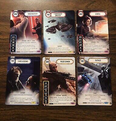 Star Wars: Destiny Full Art Promo Lot Season 3 Nimen Mastery Pulse Rifle Admiral