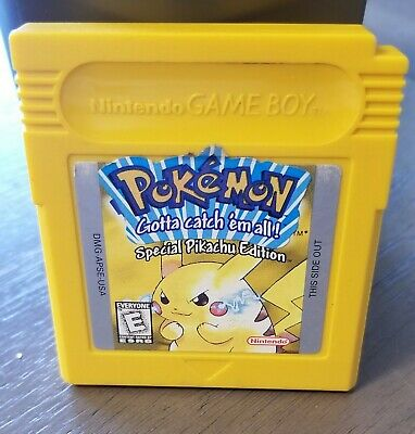 Pokemon Yellow Version: Special Pikachu Edition (Game Boy, 1999) Game Only