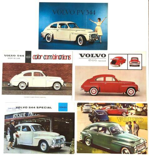 Vtg 1959 1963 Lot of 5 Volvo 544 Advertising Brochures PV Sport De Luxe Special