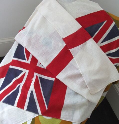 Pair of Fine British Antique Royal Navy Ensign Flags