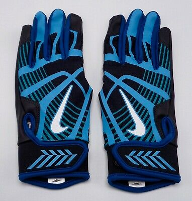 Nike Hyperdiamond Borde Guantes Bateo Negro / Omega Azul de Mujer Mediana