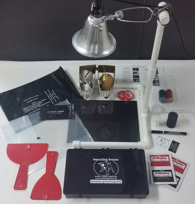 COMPLETE DIY Silk Screen Printing Kit & Light Kit w/ 2 Bulbs (all inclusive!)