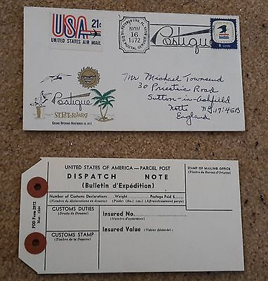 US Air Mail ST PETERSBURG Opening POSTIQUE 16 Nov 1972 - First Day Cover FDC