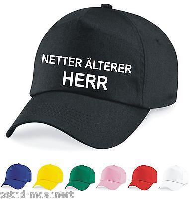 Base Cap - Mütze - NETTER ÄLTERER HERR - verschiedene Farben - Neu - Kappe