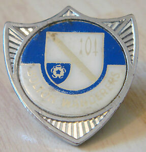 BOLTON-WANDERERS-Vintage-1970s-insert-type-badge-Brooch-pin-Chrome-30mm-x-33mm