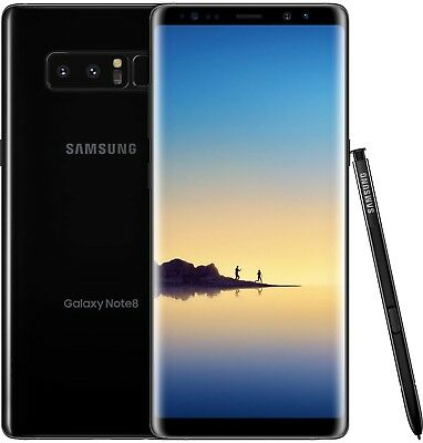 Samsung Galaxy Note8 SM-N950U - 64GB - Midnight Black (Unlocked) B