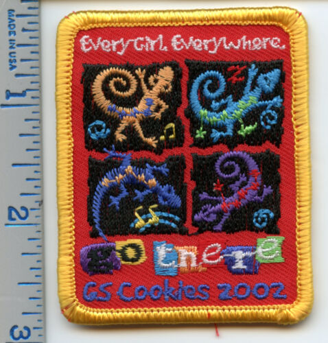 Girl Scout Cookie Patch - GS Cookies 2002 - Every Girl, Everywhere