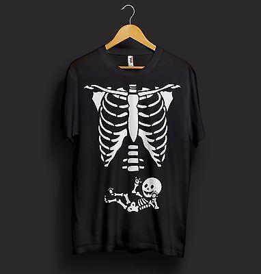 Schwangerschaft Baby Skelett T-Shirt Halloween Kostüm Babyparty