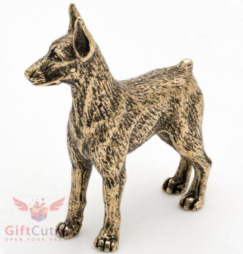Bronze Figurine of Dobermann or Doberman Pinscher dog