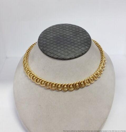 Genuine Vintage Cartier Signed Numbered 18k Gold Mid Century Necklace 50g