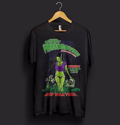 The Bride Of Frankenstein Halloween T Shirt Funny Sexy Zombie Zoella Costume