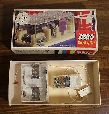7(LEGO 002 Motor Pak - not complete, in original box from 1965 - Samsonite