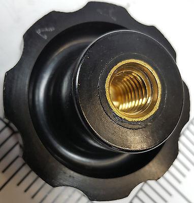 New Black Phenolic Fluted Torque Knob Handle W 12 Female Threads Brass Insert