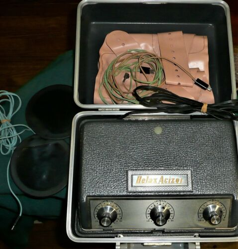 Vintage working Relax-A-Cizor Model 24 Weight Loss Machine Muscle Stimulator