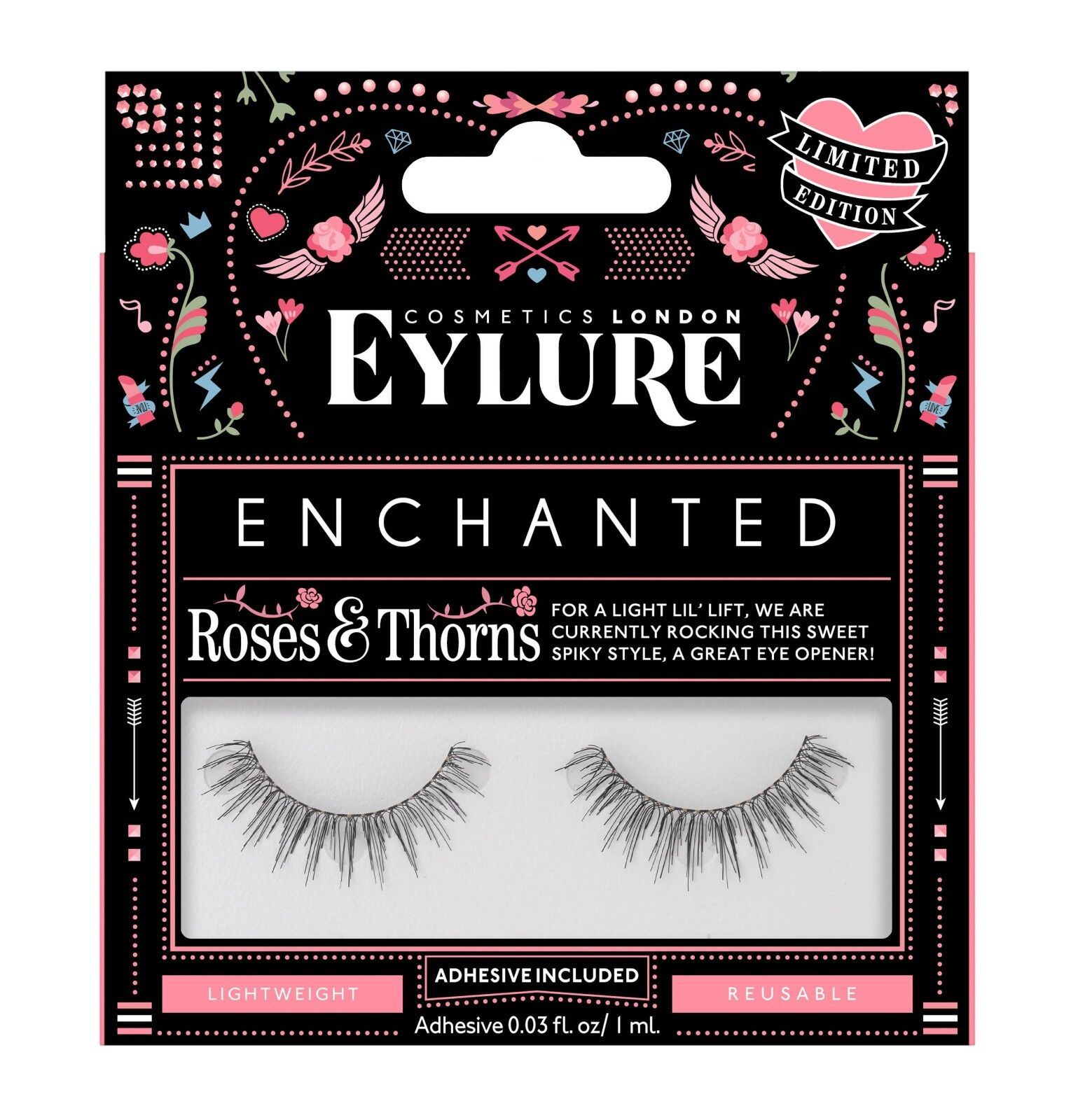 ac0597867b2 Eylure Enchanted Eyelashes - Roses & Thorns False Lashes NEW ...