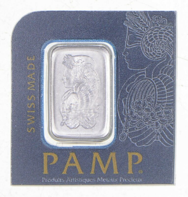 Pamp Suisse 1 Gram Platinum Bar - .9995 - In assay card
