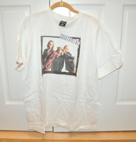 VERY RARE OFFICIAL Hanson 1998 Bucket Hat Shirt! Size LARGE!