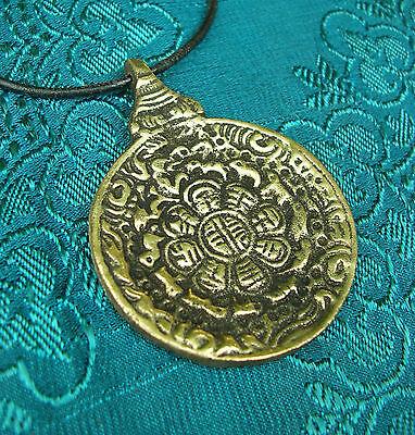 Buddha: Massive Tibetan Calendar as Amulet with Om