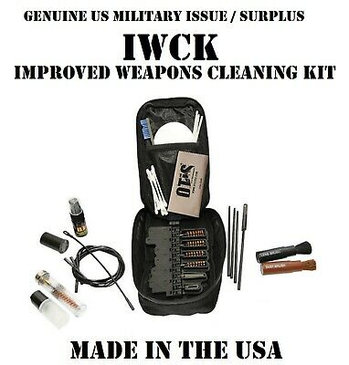 OTIS US MILITARY IWCK MULTI-CALIBER WEAPON GUN RIFLE PISTOL CLEANING KIT NMT NEW (Caliber Gun Cleaning Kit)