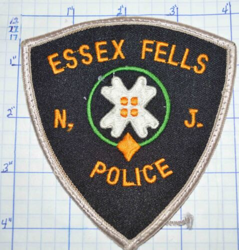 NEW JERSEY, ESSEX FELLS POLICE DEPT WHITE EDGE PATCH