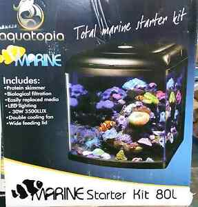 New 80ltr Marine Aquarium with LED Light and Skimmer Kelmscott Armadale Area Preview