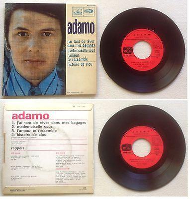 Adamo Disque Super 45T vinyl 4 titres J'ai tant de rêves dans mes bagages vintag segunda mano  Embacar hacia Argentina