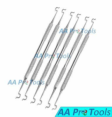 Set Of 6 Dental Twirl-on Ligature Elastic Placing Applicator Ortho Care Dentist