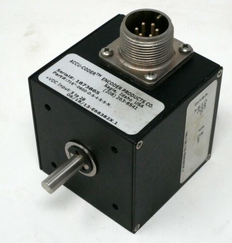 ACCU-CODER MODEL 716 INCREMENTAL SHAFT ENCODER 600 CPR 716-0600-O-S-4-S-S-N