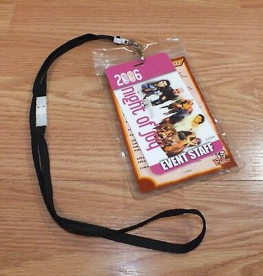 September 2006 Magic Kingdom Night of Joy Even Staff & Itinerary Card + Lanyard