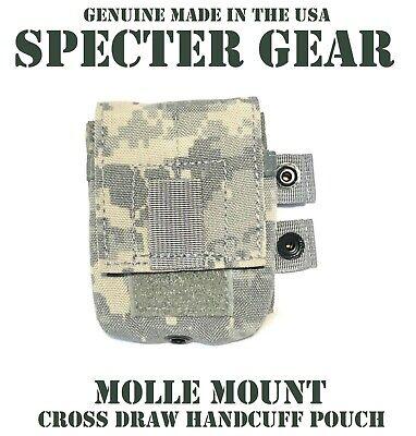 SPECTER GEAR 723 ACU MOLLE CROSSDRAW HANDCUFF CASE US MILITARY POUCH SWAT LEO