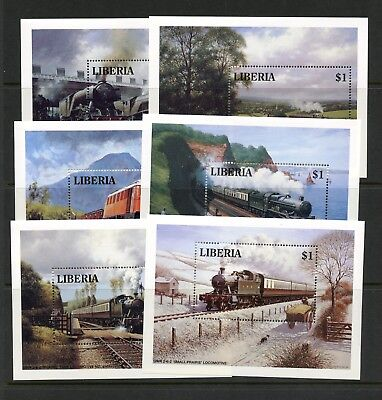 Liberia 1994  #1165-70   trains locomotives   sheets   MNH  L942