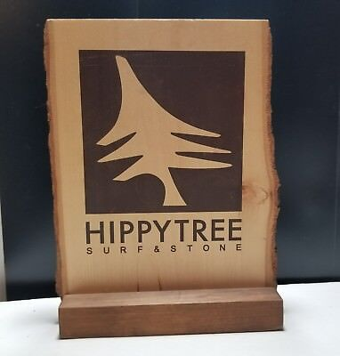 HippyTree Surf & Stone Clothing Wooden 2 Sided Advertising Sign Counter Display