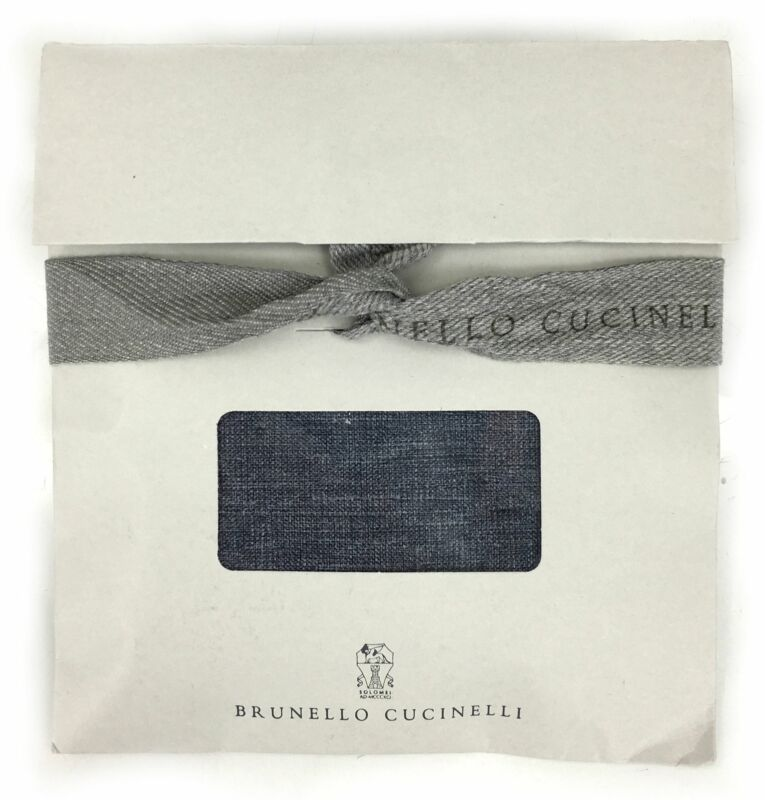 Brunello Cucinelli Blue Cotton Blend Pocket Square