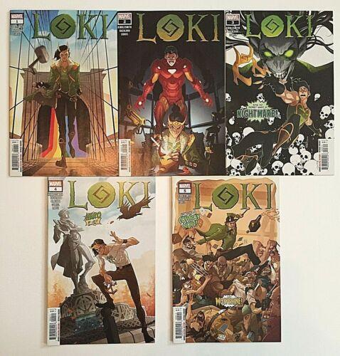 Loki #1-5 (2019) LOT 1st Print VF-NM