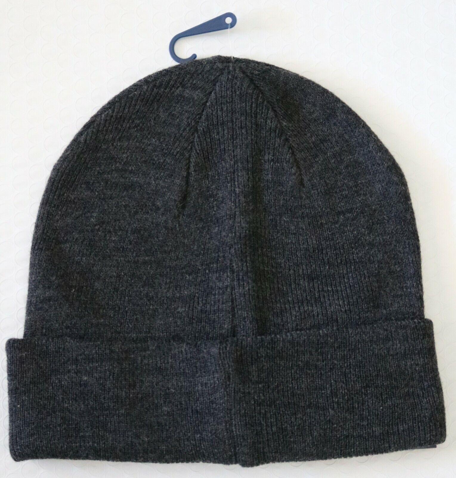 Tommy Hilfiger Mens Cap Hat Beanie Dark Gray One Size  e6eb09a0e6c8
