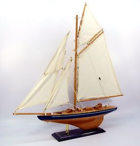 Wooden, model j class racing yacht Britannia, nautical, 56cm, sail boat