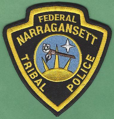 NARRAGANSETT RHODE ISLAND TRIBAL POLICE PATCH
