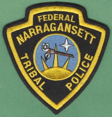 NARRAGANSETT RHODE ISLAND TRIBAL POLICE SHOULDER PATCH