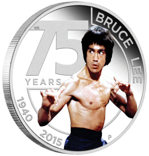 2015 75th Anniversary of Bruce Lee 1oz Silver Proof Coin TUVALU