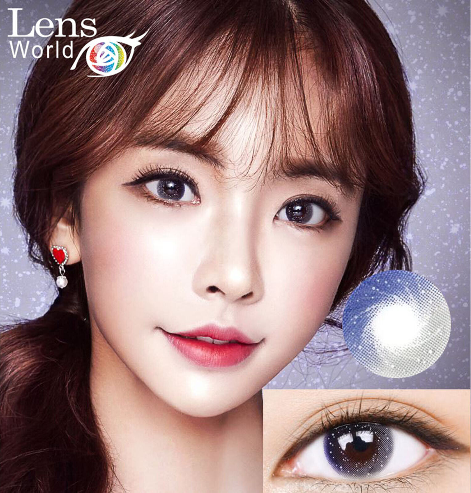 Galaxy Star Gray Color -Farbige Kontaktlinsen-Power Stärke-Korean Contact Lenses