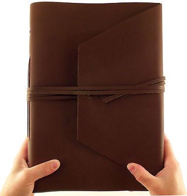 LARGE Genuine Leather Journal Diary Sketchbook Notebook Handmade Vintage Rustic