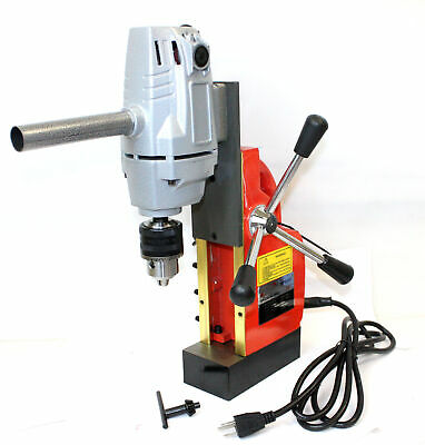 1hp 750w Electric Magnetic Drill Press 12 Boring 1910lbs Force Tabletop 550rpm