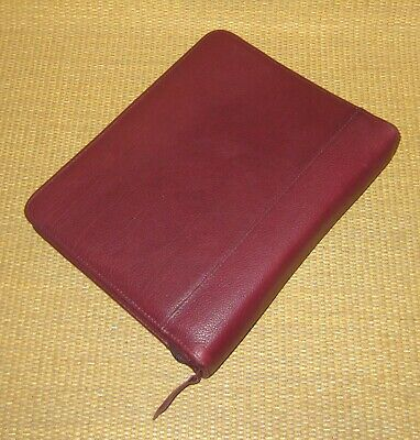 Classic Franklin Questcovey Burgundy Leather 1.5 Rings Zip Plannerbinder