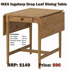 IKEA Ingatorp Drop Leaf Dining Table - as new Coogee Eastern Suburbs Preview