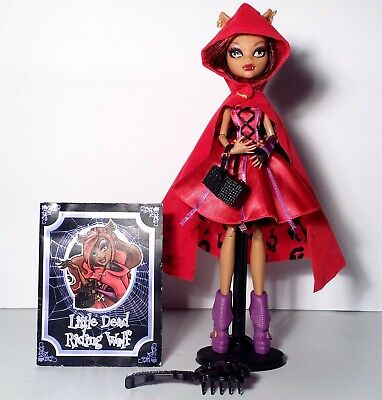 Monster High Scary Tales Little Dead Riding Wolf Clawdeen Wolf Doll Mattel