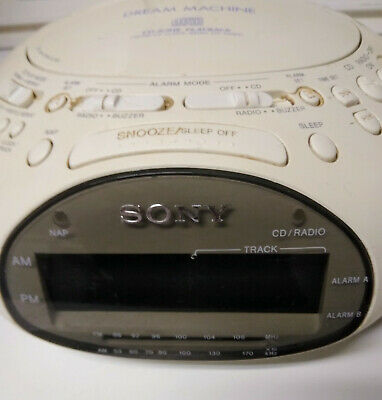 Sony CD player  dream machine alarm clock radio am fm color white