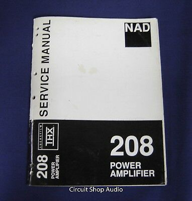 Original NAD 208 Power Amplifier Service Manual for sale  Shipping to Canada