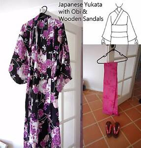 Japanese Yukata set (incl. obi & sandals) Doubleview Stirling Area Preview