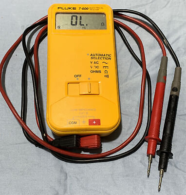 Fluke 7-600 Electrical Tester Multimeter With Klein Tools Leads